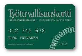 Arbetssäkerhetskort finskt
