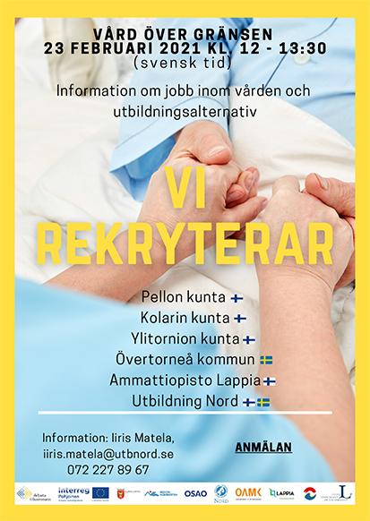 Information om jobb inom vården och utbildningsalternativ