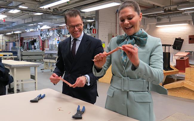 Det svenska kronprinsessparet besökte vår verksamhet