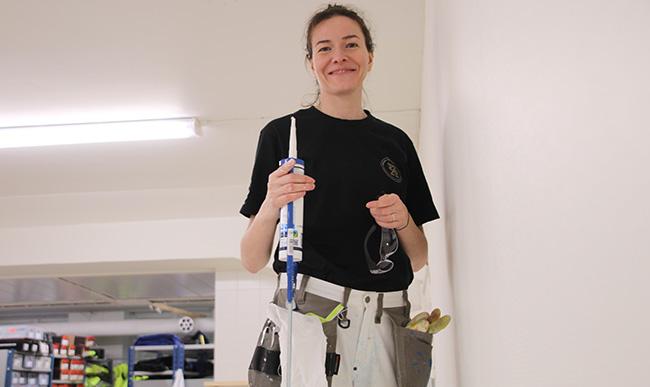 Maalarin ammatti sopii yhtä hyvin naisille ja miehille