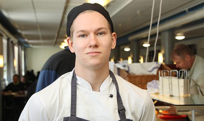 Mathias Andelin skal bli kokk